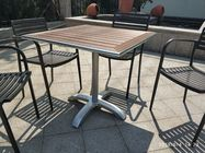 Modern Outdoor Metal Coffee Table Legs Aluminum Table Legs 26'' Cross Base