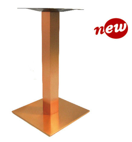 Restaurant Table Base Stainless Steel Dining Table leg 28.25''/41'' in Copper Finish