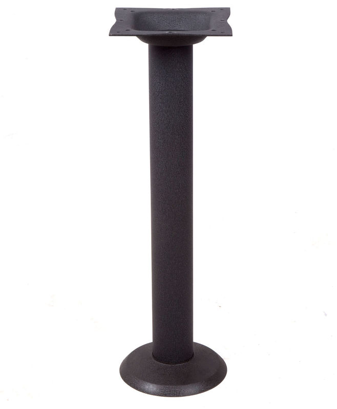 Black Cast Iron Table Base Bolt Down Table legs Shape Customized For Bar Table