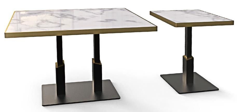 Durable Flat Bistro Table Base Square Restaurant Table Legs ISO Certification