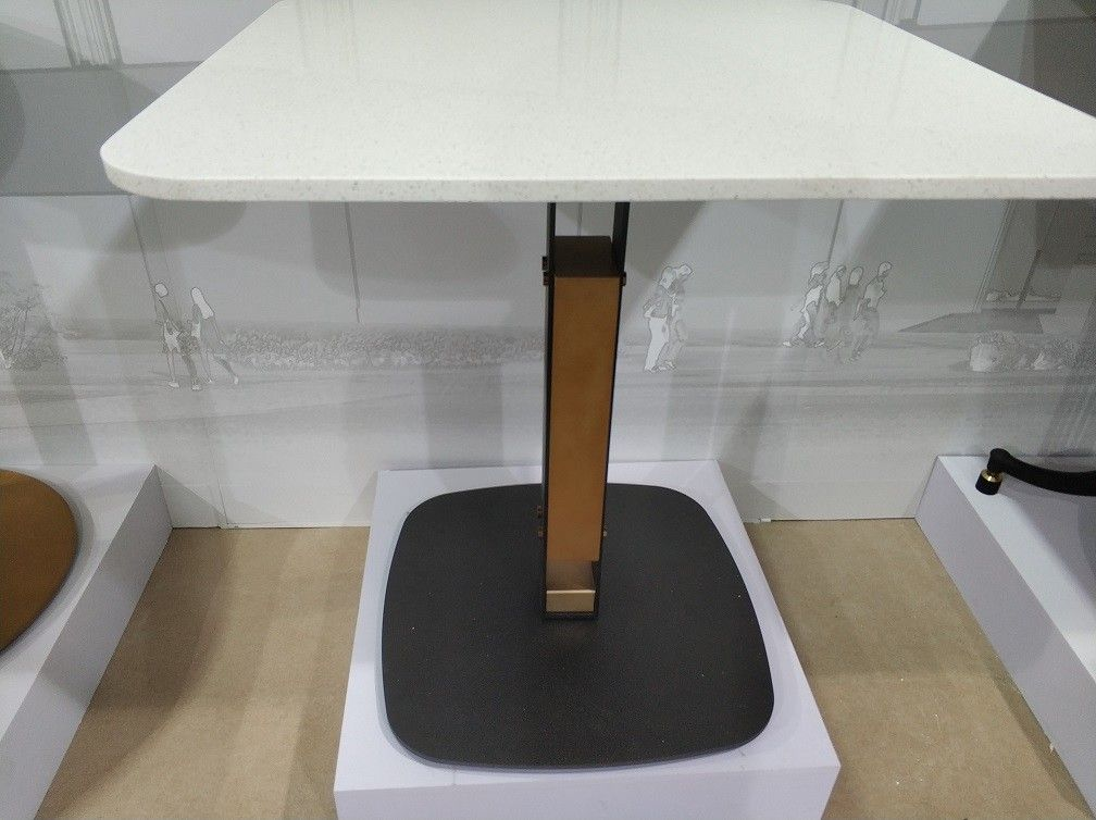 Professional Coffee Table Base Sandy Texture Square Office Table With Pedestal Base