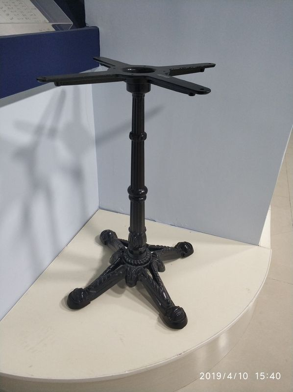 Cast Iron Vintage Restaurant Table Bases Height 28'' Black Metal Table Base Powder Coated