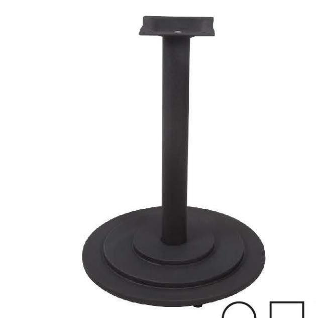 "Round Cast Iron Restaurant Table Bases Heavy Duty With Dia 30"" Base Size"